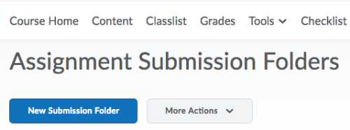 creating assignment submission folder 2