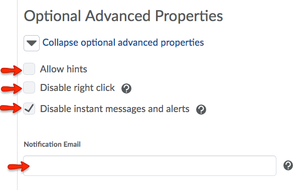 Edit Optional Advanced Properties.