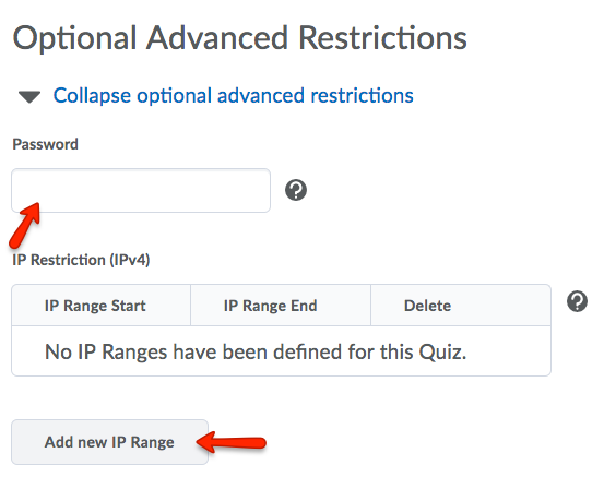 Expanded Optional Advanced Restrictions