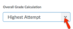Select Overall Grade Calculation Option.