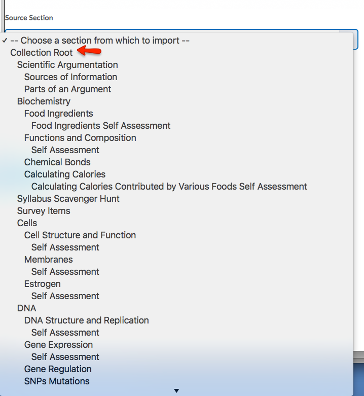 Under Source Selection, choose the folder or Collection Root