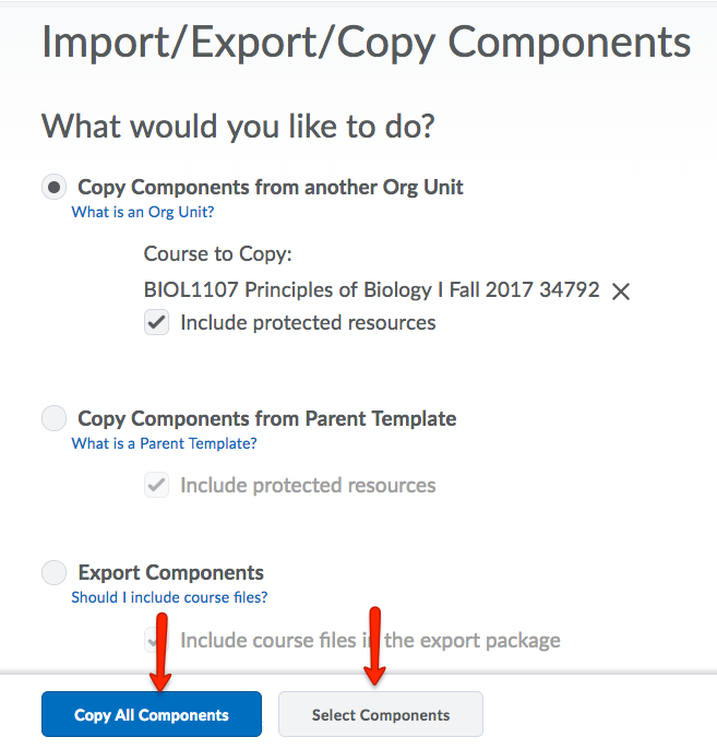 Choose Copy All Components or Select Components.