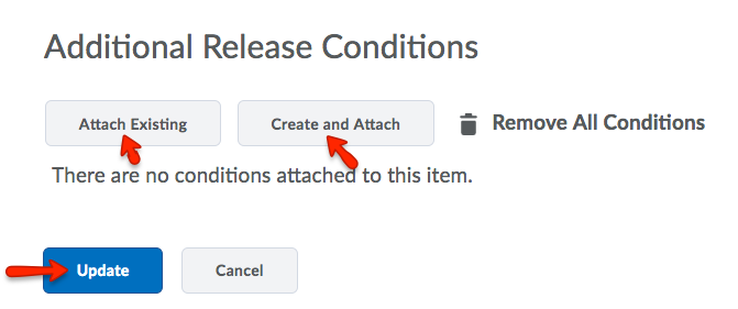 Adding release conditions to a preexisting announcments item