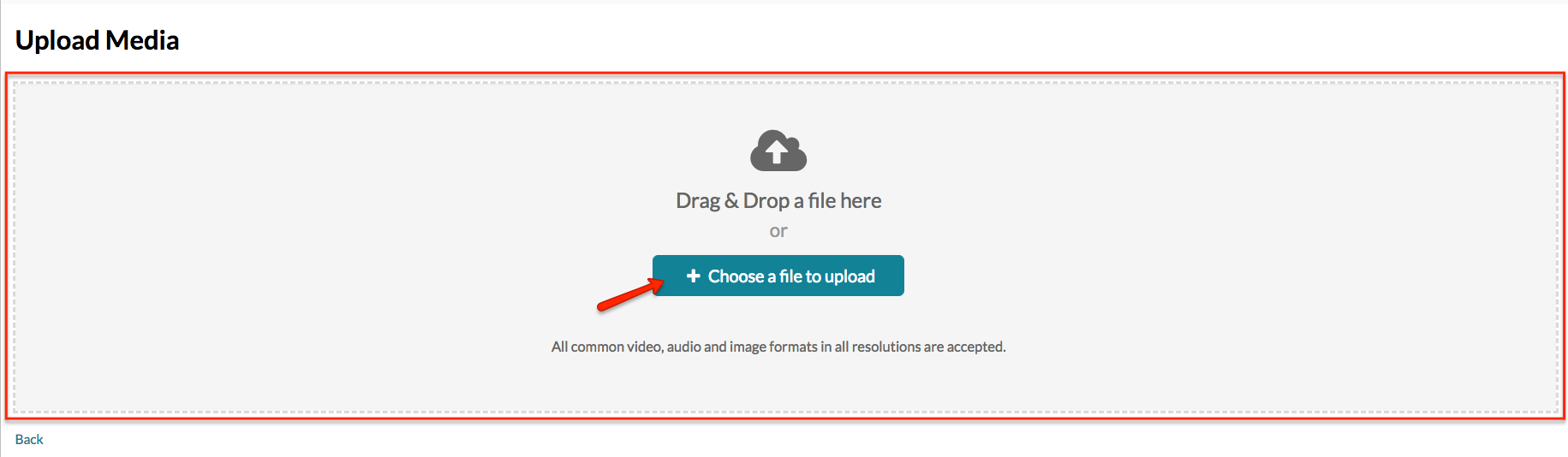 Drag and Drop or Click Select a File