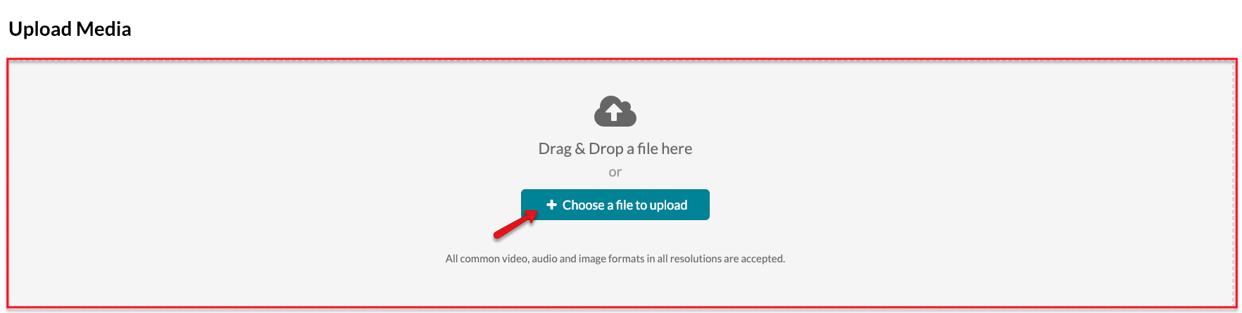 Choose a file to upload.